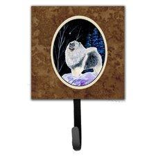 Starry Night Keeshond Leash Holder and Key Hook by Caroline's Treasures