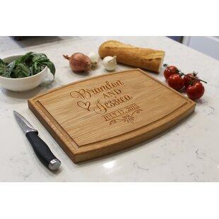 Buy luxury Arched Oak Wood Cutting Board By Etchey