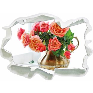 Roses In A Jug Wall Sticker By East Urban Home