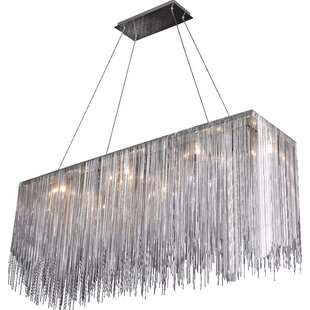 Everly Quinn Ahart 8-Light Metal Kitchen Island Pendant