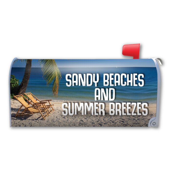 Sandy Beaches and Summer Breezes Magnetic Mailbox Cover