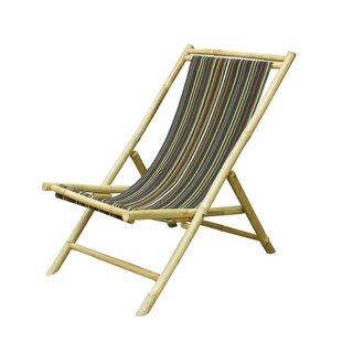 Atalya Folding Bamboo Relax Sling Beach Chair by Bayou Breeze