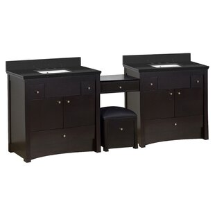Hardenburgh Drilling Floor Mount 93 Double Bathroom Vanity Set by Latitude Run
