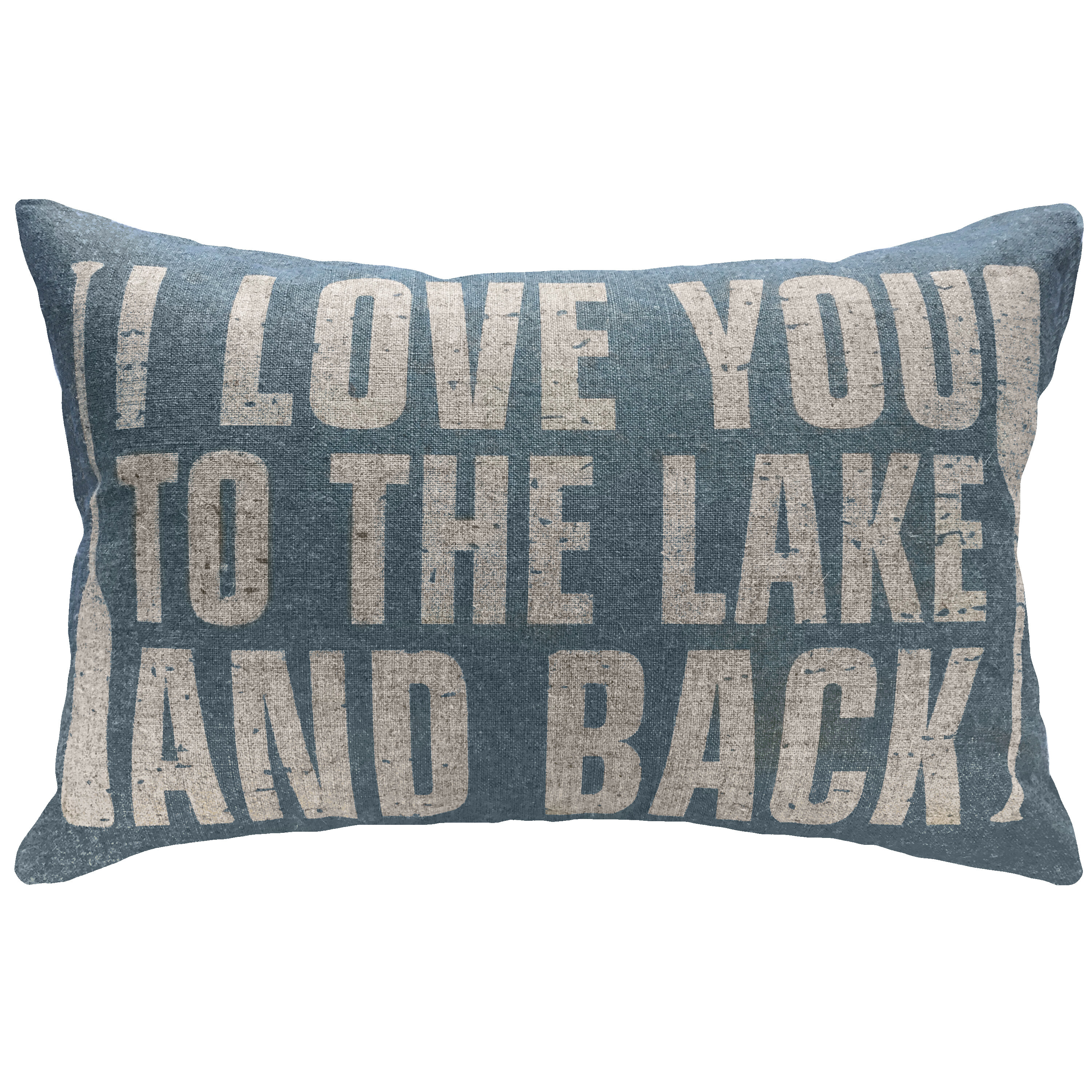 Millwood Pines Zabel Love You To The Lake And Back Linen Lumbar Pillow Wayfair