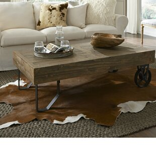 Melksham Rectangular Thick Wood Top Coffee Table