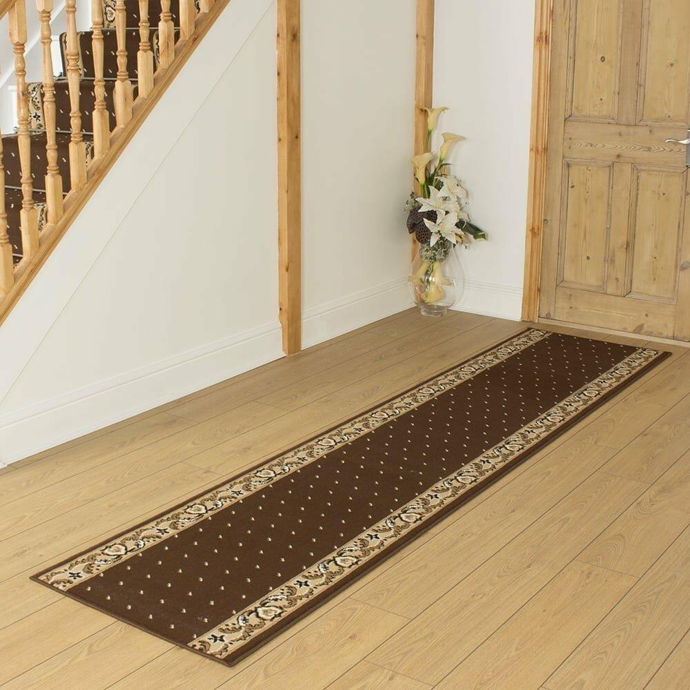 Baltic Tufted Brown Hallway Runner Rug