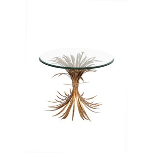 Fashion N You by Horizon Interseas Wheat Gold Antique End Table