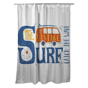 Surfer Vintage Surf Van Single Shower Curtain
