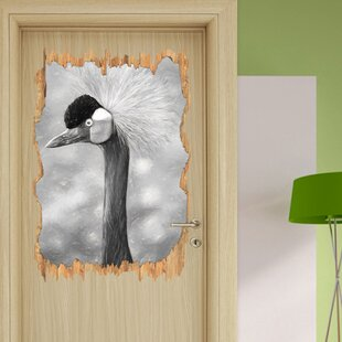 Crowned Crane Side Profile Wall Sticker By East Urban Home