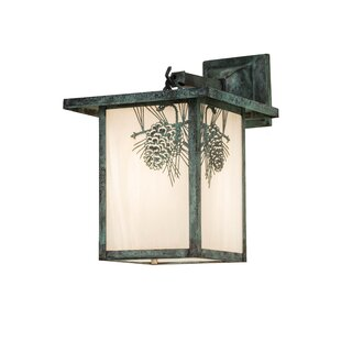 Yerkes Winter Pine Outdoor Wall Lantern b..