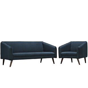 Shop For Slide 2 Piece Living Room Set by Modway Reviews (2019) & Buyer's Guide