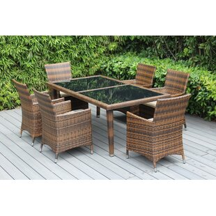 Ohana 7 Piece Dining Set With Cushions by Ohana Depot Best