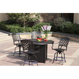 Alcott Hill Thompson 5 Piece Bar Height Dining Set