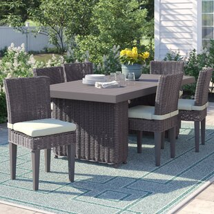 Fairfield 7 Piece Outdoor Patio Dining Set with Cushions