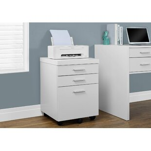 Barnaton 3-Drawer Mobile Lateral File by Comm Office