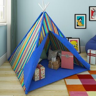 Stuart Multi Stripe Wigwam Play Teepee. by Zoomie Kids & Childrenu0027s Play u0026 Pop Up Tents | Kids Tents | Wayfair.co.uk
