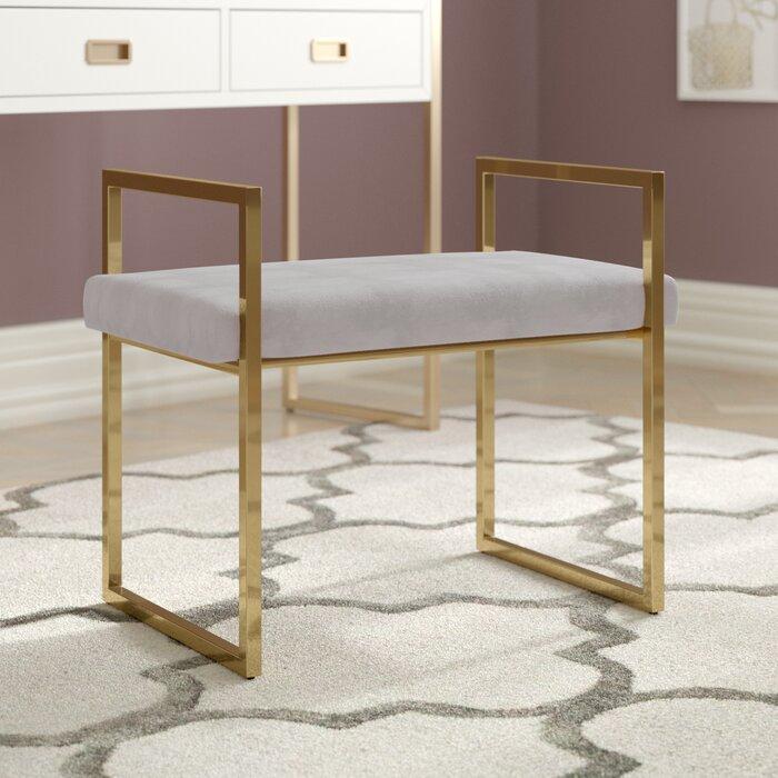 Wondrous Adelaida Vanity Stool Ibusinesslaw Wood Chair Design Ideas Ibusinesslaworg