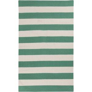 Kramer Emerald Green & Ivory Area Rug