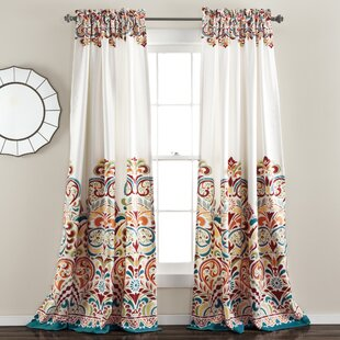 Powley Paisley Room Darkening Thermal Rod Pocket Curtain Panels (Set of 2) by World Menagerie
