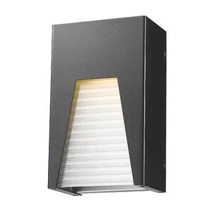 Willa Arlo Interiors Ajhar 1-Light Metal Outdoor Flush Mount