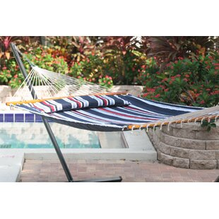 Hibiscus Premium Reversible Two Person Cotton Hammock by Beachcrest Home