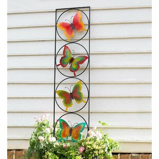 Plow & Hearth Butterfly Iron Gothic Trellis