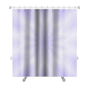 Primo Abstract Lilac of Squares Pattern Premium Single Shower Curtain
