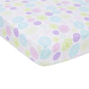 Colorful Bursts Flat Crib Sheet