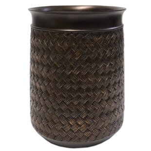 Sweet Home Collection Bamboo Bathroom Waste Basket