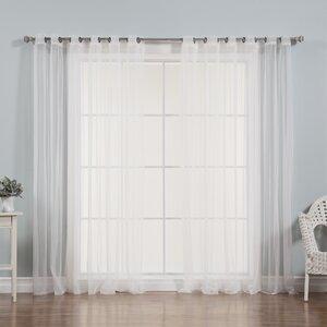 Drishya Solid Sheer Grommet Curtain Panels