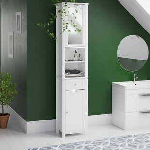 40 X 190cm Mirrored Free Standing Tall Bathroom Cabinet By Brambly Cottage