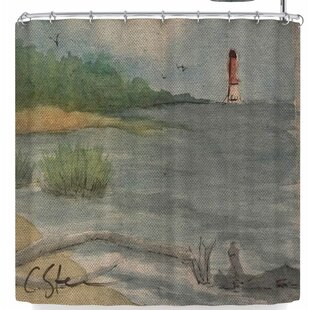 Cyndi Steen Abate Coastal Single Shower Curtain