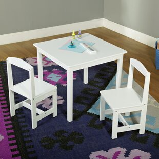 Giordano Kids 3 Piece Square Table and Chair Set by Viv + Rae