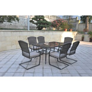 Ginsburg 7 Piece Dining Set by Charlton Home