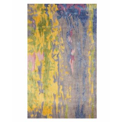 Fiorino Contemporary Abstract Hand Tufted Blueyellow Area Rug Latitude Run Rug Size Rectangle 89 X 119