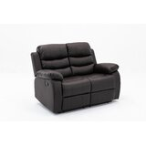 Brok 54 Wide Faux Leather Pillow Top Arm Reclining Loveseat by Latitude Run®