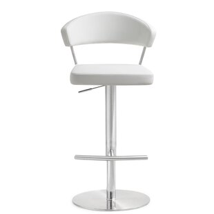 Mcghee Adjustable Height Swivel Bar Stool..