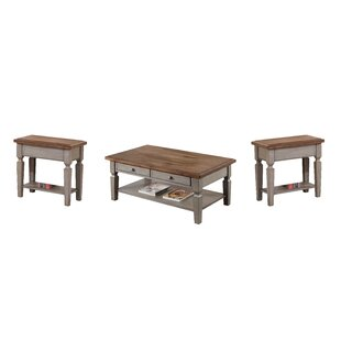 August Grove Murtaugh 3 Piece Coffee Table Set