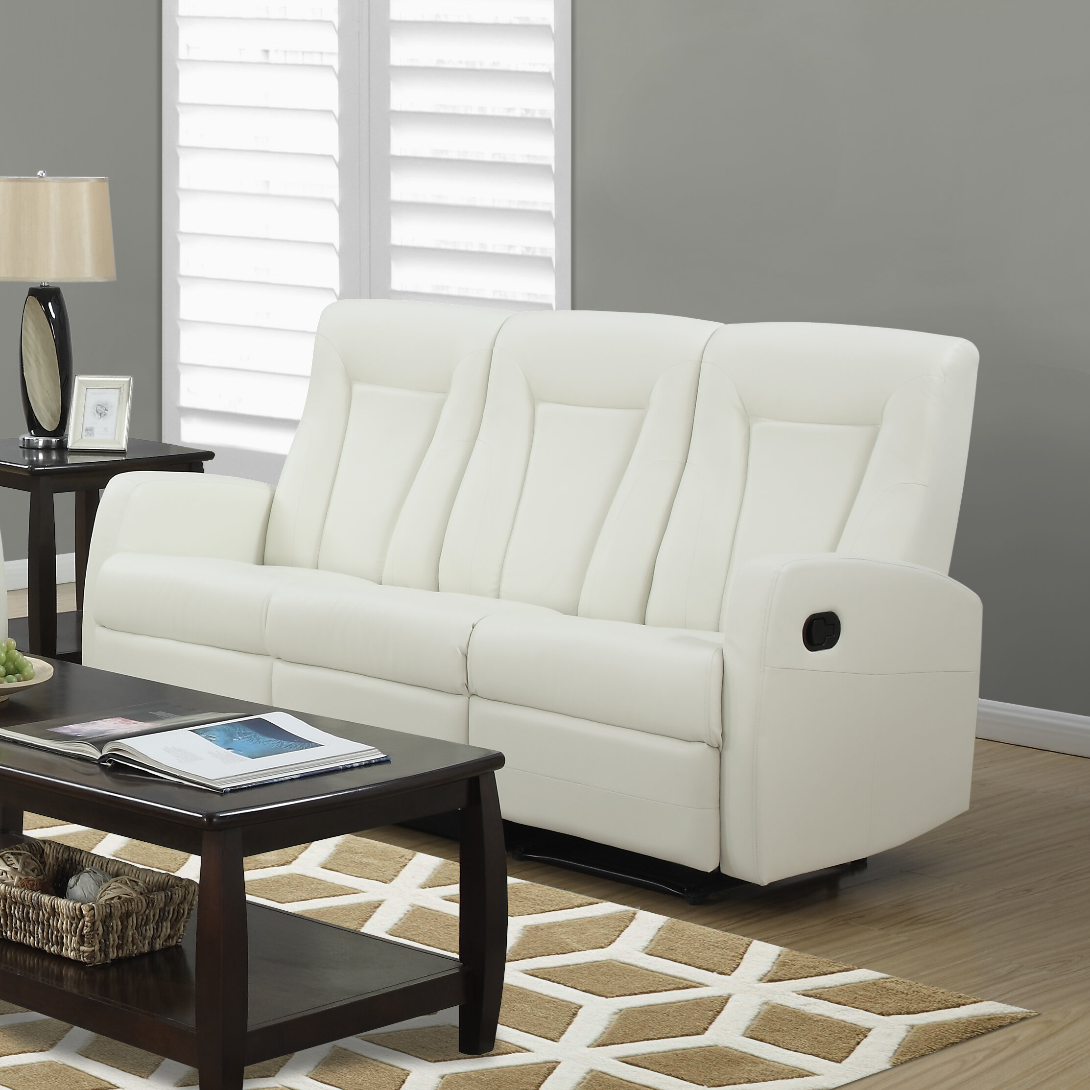 Monarch Specialties Inc. Bonded Leather Reclining Sofa & Reviews ...