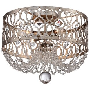 Willa Arlo Interiors Bel Florentine 4-Light Flush Mount