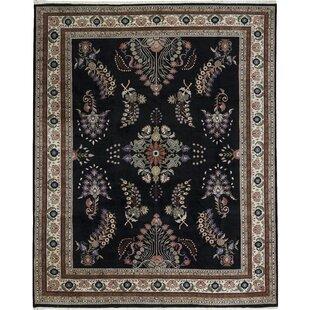 Inexpensive One-of-a-Kind Hand-Knotted 12' x 15' Wool Black/Beige Area Rug ByBokara Rug Co., Inc.