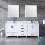 Michaella 80 Double Bathroom Vanity Set with Mirror by Wrought Studio™