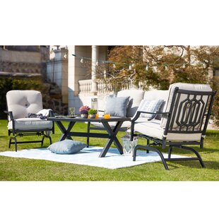 Strader 4 Piece Sofa Seating Group with Cushions