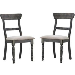 Simone Solid Wood Dining Chair (Set of 2) Ophelia & Co.