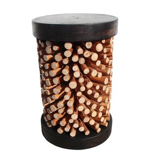 Exotic Wood Accent Stool by Asian Art Imports