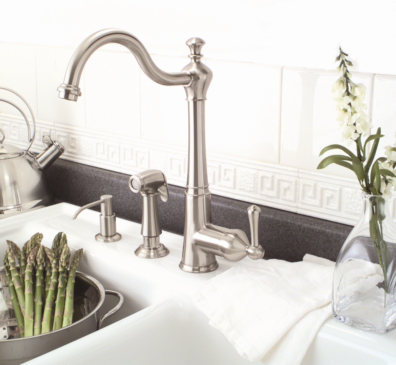 Premier Faucet Sonoma Single Handle Kitchen Faucet With Side Spray Reviews Wayfair