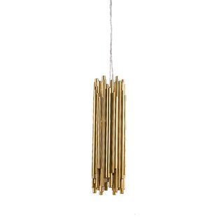 Everly Quinn Gaiser 1-Light Cylinder Pendant