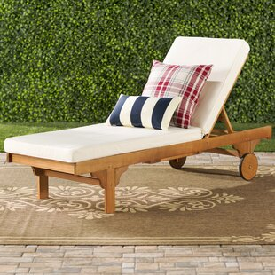 Cranesville Reclining Chaise Lounge with Cushion by Three Posts