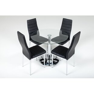 Sherlock Dining Set With 4 Chairs By Metro Lane