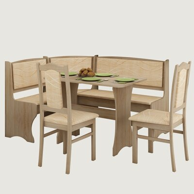 Rivale 4 Piece Breakfast Nook Dining Set Red Barrel Studio